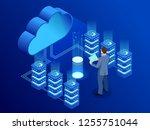 isometric modern cloud... | Shutterstock .eps vector #1255751044