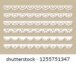 cotton lace fabric border ... | Shutterstock .eps vector #1255751347