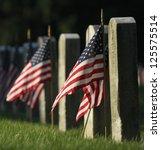 veterans cemetery memorial... | Shutterstock . vector #125575514