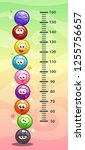 kids height chart. wall metter... | Shutterstock .eps vector #1255756657