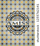 amiss arabic style badge....   Shutterstock .eps vector #1255762141