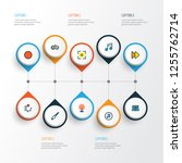multimedia icons colored line... | Shutterstock . vector #1255762714
