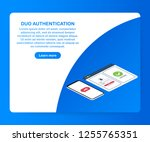 dual factor authentication... | Shutterstock .eps vector #1255765351