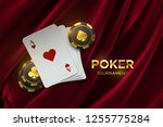 poker tournament. vector... | Shutterstock .eps vector #1255775284
