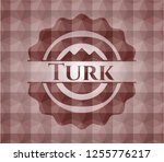 turk red badge with geometric... | Shutterstock .eps vector #1255776217