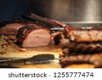 canadian bacon  also known as... | Shutterstock . vector #1255777474