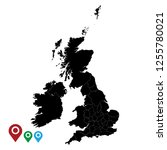 map of united kingdom  high... | Shutterstock .eps vector #1255780021