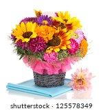 beautiful bouquet of bright... | Shutterstock . vector #125578349