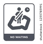 no waiting icon vector on white ... | Shutterstock .eps vector #1255785991