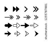 arrow sign icons set.vector...