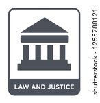 law and justice icon vector on... | Shutterstock .eps vector #1255788121