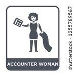 accounter woman icon vector on... | Shutterstock .eps vector #1255789567
