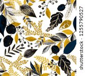 creative seamless pattern with... | Shutterstock . vector #1255790527