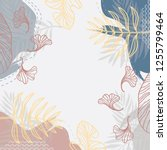 abstract floral scarf pattern.... | Shutterstock .eps vector #1255799464