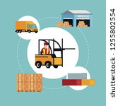delivery and logistics | Shutterstock .eps vector #1255802554