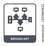 broadcast icon vector on white... | Shutterstock .eps vector #1255804621