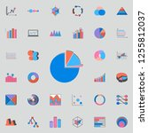 3d pie chart icon. charts  ... | Shutterstock .eps vector #1255812037
