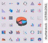 3d pie chart icon. charts  ... | Shutterstock .eps vector #1255812061