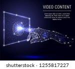 video content concept vector... | Shutterstock .eps vector #1255817227