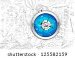 illustration of travel element... | Shutterstock .eps vector #125582159