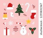 Christmas Icon Elements Drawn...