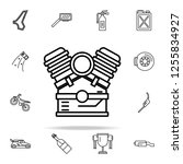 engine icon. motor sports icons ... | Shutterstock .eps vector #1255834927