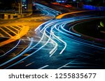 moving car with blur light... | Shutterstock . vector #1255835677