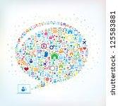 global communication concept   Shutterstock .eps vector #125583881