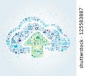 technology concept of cloud...   Shutterstock .eps vector #125583887