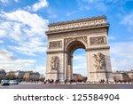 Famous arc de triomphe against...