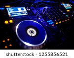 dj console at the nightclub.... | Shutterstock . vector #1255856521
