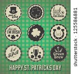 alcohol,ale,background,celebration,celtic,clover,collection,day,decoration,design,drink,element,frame,glass,green