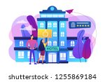 business people with thumb up... | Shutterstock .eps vector #1255869184