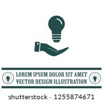 electric light bulb in the... | Shutterstock .eps vector #1255874671