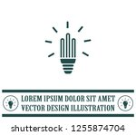light bulb energy saving ... | Shutterstock .eps vector #1255874704