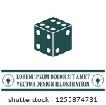 cubes for the game vector icon. | Shutterstock .eps vector #1255874731