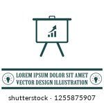 infographics on the stand ... | Shutterstock .eps vector #1255875907
