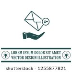 mail envelope on the hand  mail....   Shutterstock .eps vector #1255877821