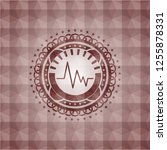 electrocardiogram icon inside... | Shutterstock .eps vector #1255878331