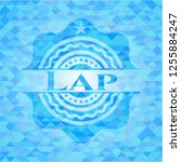 lap light blue emblem with... | Shutterstock .eps vector #1255884247