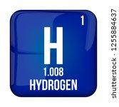 hydrogen symbol.chemical...   Shutterstock .eps vector #1255884637