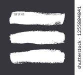 set of different brush strokes. ...   Shutterstock .eps vector #1255884841