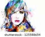 Woman Face. Hand Painted...