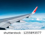 beautiful view from airplane... | Shutterstock . vector #1255893577