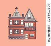 vector illustration with... | Shutterstock .eps vector #1255917904
