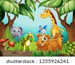 wild animals in nature... | Shutterstock .eps vector #1255926241