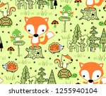 seamless pattern vector with... | Shutterstock .eps vector #1255940104