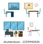 set business office data... | Shutterstock .eps vector #1255940434