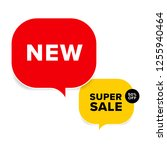new tag and special sale label. ... | Shutterstock .eps vector #1255940464
