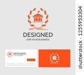 business logo template for bank ... | Shutterstock .eps vector #1255953304